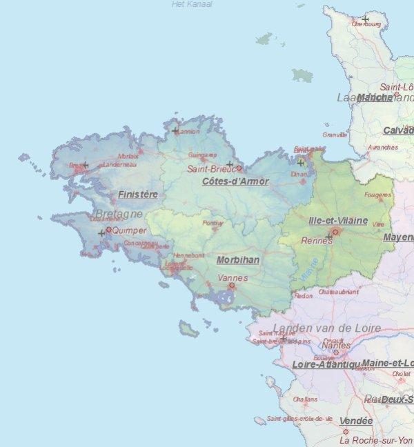 Kaart Van Rennes Frankrijk Landkaart En Plattegrond