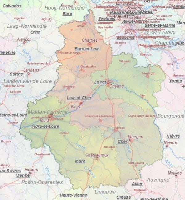 Kaart Van Orleans Frankrijk Landkaart En Plattegrond