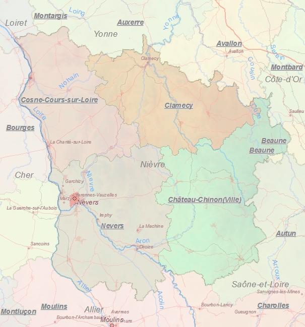 Kaart Van Nevers Frankrijk Landkaart En Plattegrond