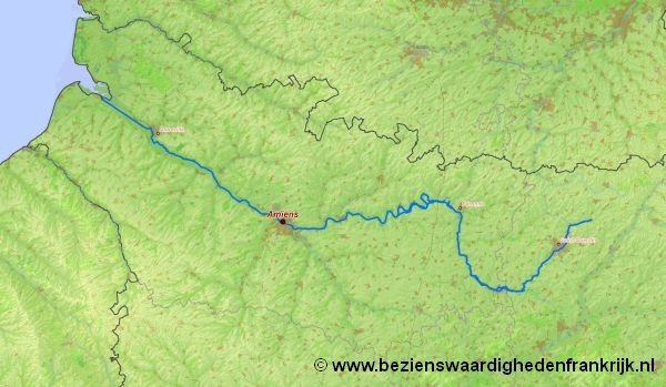 Somme Rivier Door De Regio Picardie Noordwest Frankrijk